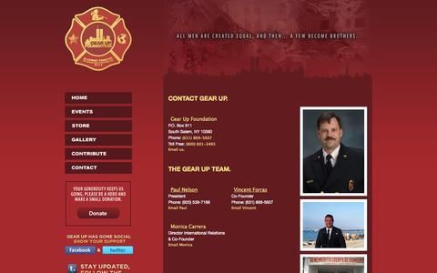 Screenshot of Contact Page gearupfoundation.org - A Living Tribute To Those We Lost On 9/11 - Gear Up Foundation - captured Sept. 29, 2014