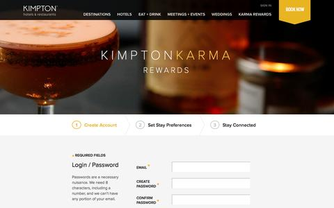 Join Kimpton Karma Rewards | Create a Member Loyalty Account