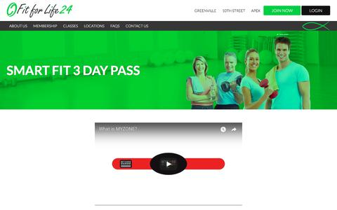 Screenshot of Signup Page fitforlife24.com - Smart Fit 3 Day Pass - Fit For Life 24 - captured July 2, 2018