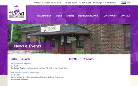 Screenshot of Press Page hobartchamber.com - Contact - Hobart Chamber - captured Jan. 30, 2016