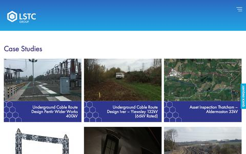 Screenshot of Case Studies Page lstc.co.uk - Case Studies - LSTC - captured Sept. 25, 2018