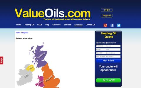 Screenshot of Locations Page valueoils.com - Heating Oil Locations | ValueOils - captured Oct. 27, 2014