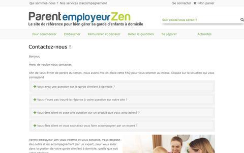 Screenshot of Contact Page parent-employeur-zen.com - Contactez-nous ! - Parent employeur Zen - captured Sept. 24, 2018