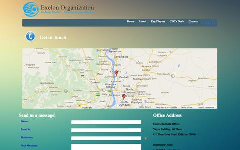 Screenshot of Contact Page eotd.in - Contact Us - captured Oct. 3, 2014
