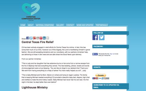 Screenshot of Testimonials Page c3austin.org - Testimonials  | Christian Compassion Center - captured Oct. 2, 2014