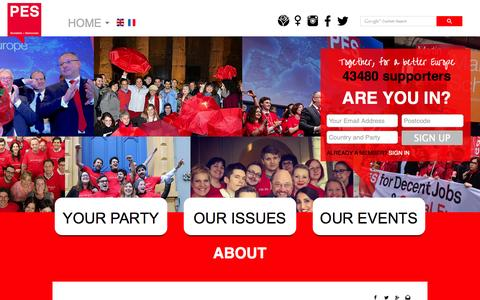 Screenshot of About Page pes.eu - Introduction - PES - captured Oct. 1, 2014