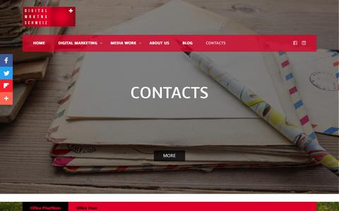 Screenshot of Contact Page digitalmarketingschweiz.ch - Contact us - Digital Marketing Schweiz - captured June 22, 2018