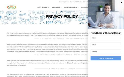 IndiaFilings: Privacy Policy