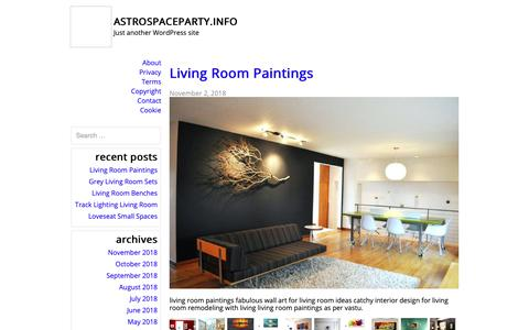 Screenshot of Home Page astrospaceparty.info - astrospaceparty.info – Just another WordPress site - captured Nov. 6, 2018