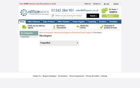 Screenshot of Developers Page officeworx.co.uk - Developers 43200 - captured Oct. 1, 2014