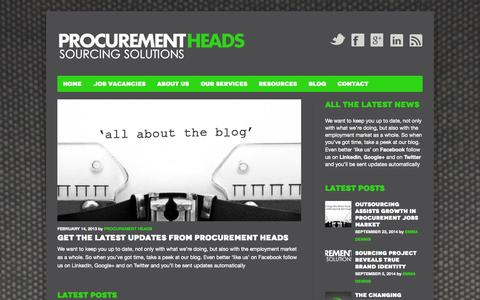 Screenshot of Blog procurementheads.com - Blog | Procurement Heads - captured Sept. 30, 2014