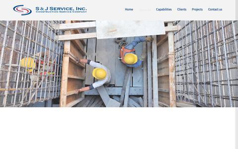 Screenshot of Home Page sj-service.com - S & J Service Inc. – Construction Service Company - captured Sept. 30, 2018