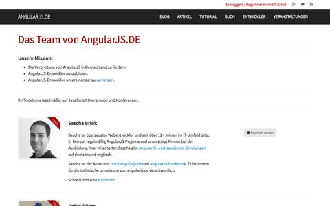 Screenshot of Team Page angularjs.de - AngularJS.DE → Über uns - captured Oct. 31, 2014
