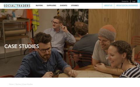 Screenshot of Case Studies Page socialtraders.com.au - Case Studies | Social Traders - captured Oct. 18, 2018