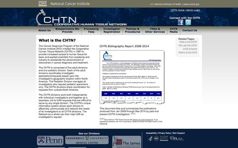 Screenshot of About Page nih.gov - CHTN  :: What is the CHTN? - captured Oct. 27, 2014