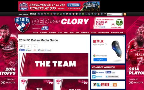 Screenshot of Press Page fcdallas.com - 2014 FC Dallas Media Guide | FC Dallas - captured Oct. 23, 2014