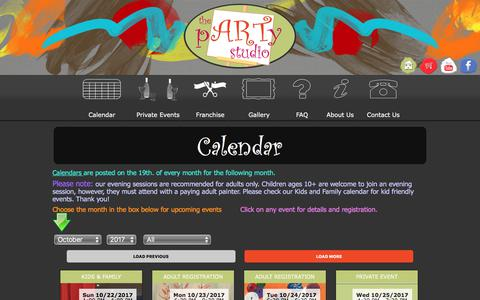 Screenshot of Signup Page partystudiocolumbus.com - Party Studio Columbus | Art & Canvas Painting Parties Events Calendar - captured Oct. 23, 2017