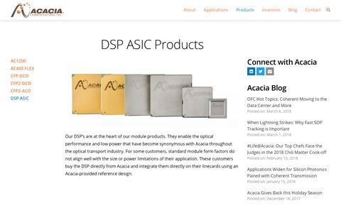DSP ASIC Products - Acacia Communications