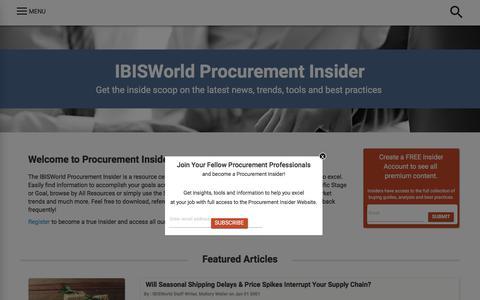 Home | IBISWorld Procurement Insider
