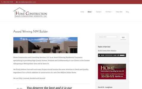 Screenshot of About Page abqbuilder.com - About – Home Construction and Consulting Services LLC - captured Nov. 10, 2016