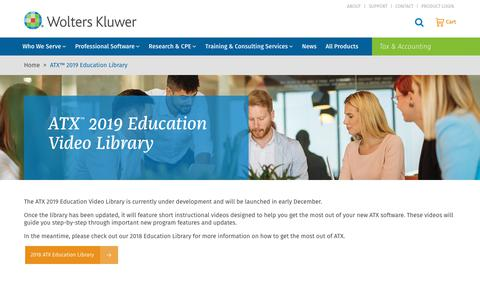 Screenshot of Case Studies Page wolterskluwer.com - ATX™ 2019 Education Library | Wolters Kluwer - captured Nov. 29, 2019