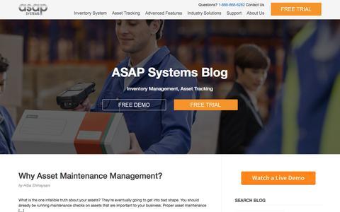 Screenshot of Blog asapsystems.com - Inventory and Asset Management System - Blog | - captured April 16, 2018