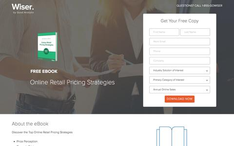 Screenshot of Landing Page wiser.com - Pricing Strategies eBook - Wiser - captured April 26, 2017