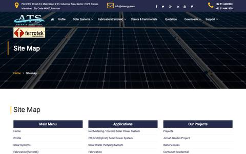 Screenshot of Site Map Page atsengg.com - ATS | Site map - captured Nov. 12, 2018