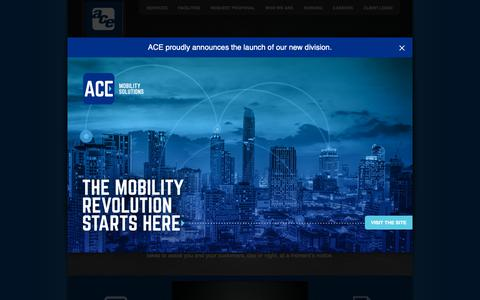 Screenshot of Home Page aceparking.com - Ace Parking Management, Inc. | Office Parking, Retail Parking, Hotel Parking and Valet Services, Airport Parking | San Diego, CA - captured Feb. 12, 2019