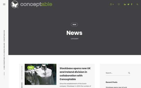 Screenshot of Press Page conceptable.com - News – Conceptable – Consultancy and Mentoring for the fashion, performance and leisure products industries - captured Nov. 27, 2018