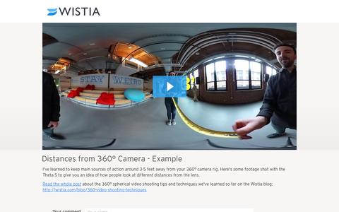 Distances from 360° Camera - Example - Wistia Home
