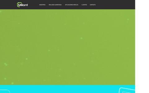 Screenshot of Home Page milion.pe - innovandosiempre - captured Jan. 12, 2016