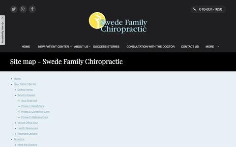 Screenshot of Site Map Page swedefamilychiropractic.com - Site map - Swede Family Chiropractic - captured Sept. 21, 2018
