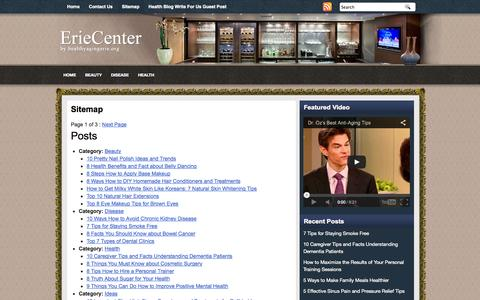 Screenshot of Site Map Page healthyagingerie.org - Sitemap | Erie Center on Health and Aging - captured Sept. 19, 2014