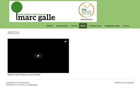 Screenshot of Press Page mijntuin.org - Media   Tuinen Marc Galle - captured July 6, 2017