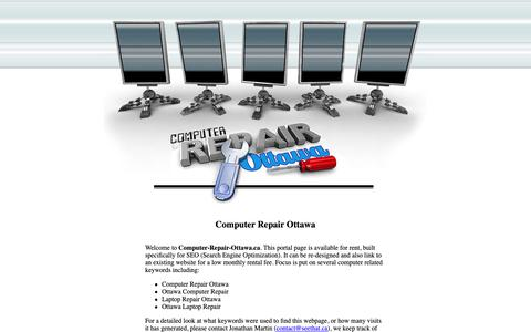 Screenshot of Home Page computer-repair-ottawa.ca - Computer Repair Ottawa - captured Oct. 23, 2018