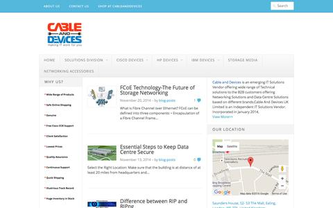 Screenshot of Blog cableanddevices.co.uk - Cable and Devices Blog - Making IT Work for You - captured Jan. 24, 2016