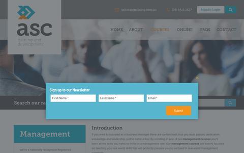 Screenshot of Team Page asctraining.com.au - Management Archives - captured Oct. 2, 2018