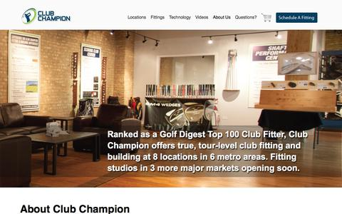 Screenshot of About Page clubchampiongolf.com - About Us - Club Champion Golf - captured Oct. 2, 2014