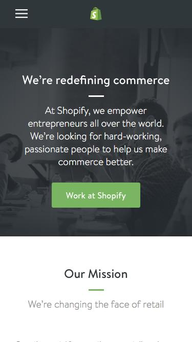 Screenshot of Jobs Page  shopify.com - Careers and jobs at Shopify