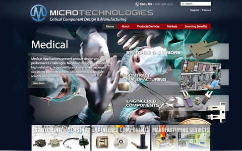 Screenshot of Home Page mic-tec.com - Home - MicroTechnologies - captured Oct. 4, 2014