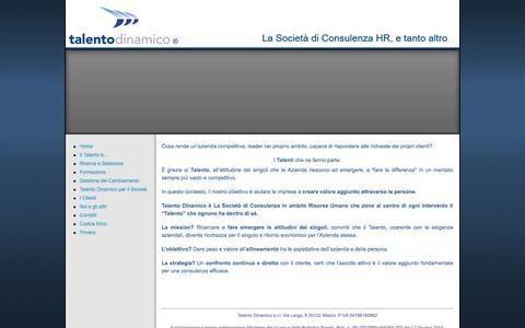 Screenshot of Home Page talentodinamico.it - Talento Dinamico - captured Sept. 30, 2014