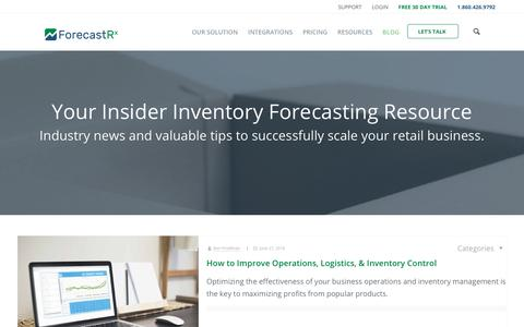 Screenshot of Blog forecastrx.com - Inventory Management & Demand Planning Information | ForecastRX - captured July 8, 2018