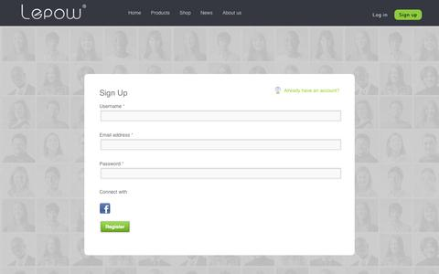 Screenshot of Signup Page lepowglobal.com - Lepow - My Account - captured Sept. 19, 2014