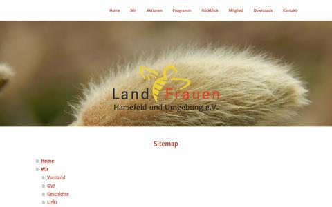 Screenshot of Site Map Page jimdo.com - Sitemap - LandFrauen-Harsefeld - captured June 9, 2016