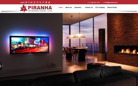 Screenshot of Home Page piranhatt.com - Home | Piranha International Limited - captured Jan. 28, 2016