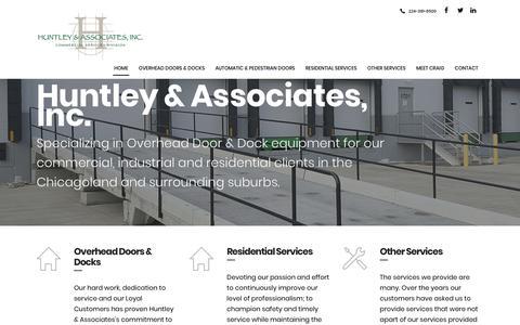 Screenshot of Home Page huntleyassoc.com - Home - Huntley & Associates - captured Dec. 16, 2018