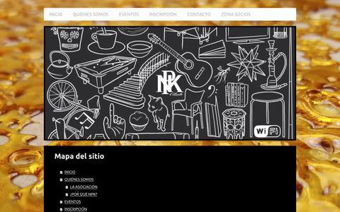 Screenshot of Site Map Page npkbarcelona.com - NPK CLUB BARCELONA - captured Oct. 22, 2017