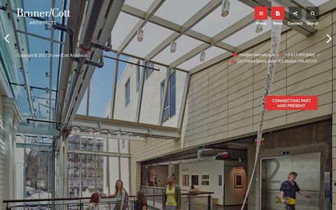 Screenshot of Home Page brunercott.com - Bruner / Cott & Associates - captured May 17, 2019