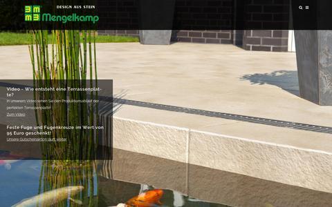 Screenshot of Home Page mengelkamp.de - Mengelkamp - Terrassenplatten & Natursteinplatten - captured Sept. 20, 2015